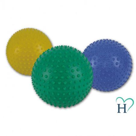 Piłka do rehabilitacji z kolcami (średnica 25,5 cm, zielona)