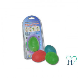 Piłeczka rehabilitacyjna Jajko słaba (czerwona)