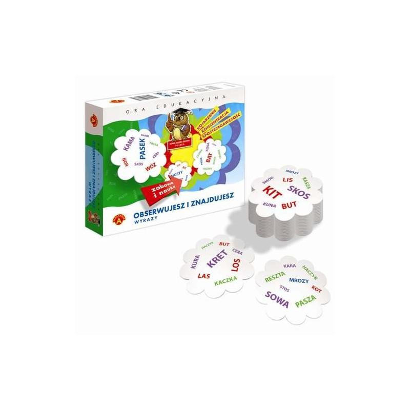 Gra edukacyjna - Obserwujesz i znajdujesz wyrazy