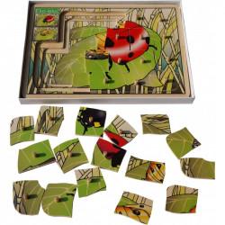 Drewniana układanka warstwowa (puzzle) - Biedronka