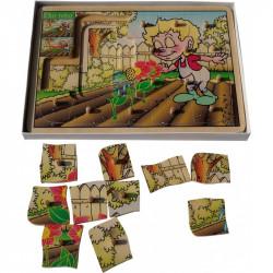 Drewniana układanka warstwowa (puzzle) - W ogrodzie