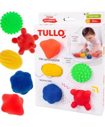 Piłki, piłeczki, pomoce sensoryczne 5 szt. Zestaw III