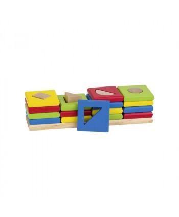 Drewniany sorter 4 kształty. Pomoc manipulacyjna