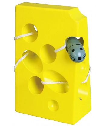 Pomoc i zabawka zręcznościowa - przewlekanka ser z myszką duża