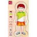 Drewniana układanka - Anatomia chłopca